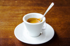 White espresso cup Royalty Free Stock Image