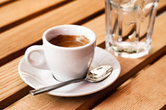 White espresso cup Royalty Free Stock Photo
