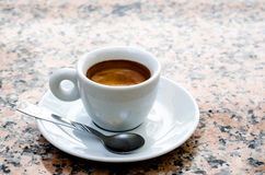 White espresso cup Royalty Free Stock Photos