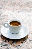 White espresso cup Stock Photography