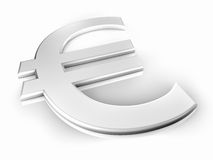 White Euro Sign Stock Images