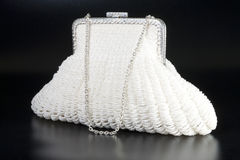 White evening bag Royalty Free Stock Photos