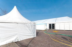 White event tent Stock Photo