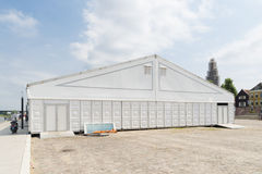 White event tent Royalty Free Stock Photography