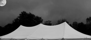 White events tent at night some elements courtesy of nasa Royalty Free Stock Photography