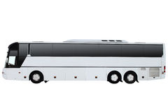 The white excursion bus isolated on a white background. Royalty Free Stock Image