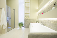 White expensive bathroom Royalty Free Stock Images