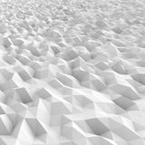 White Extruded triangles landscape - stock image vector illustration