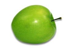white för äpplebakgrundsgreen Arkivfoto