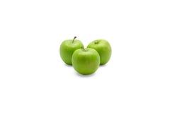 white för äpplebakgrundsgreen Arkivbilder