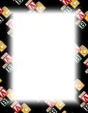 white för alfabetblockram vektor illustrationer