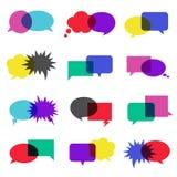 white för anförande för bakgrundsbubblasymbol illustration isolerad set Royaltyfria Bilder