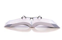 white för avläsning för exponeringsglas för bakgrund 3d model Royaltyfria Bilder