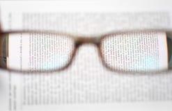 white för avläsning för exponeringsglas för bakgrund 3d model Royaltyfri Fotografi