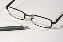 white för avläsning för exponeringsglas för bakgrund 3d model Arkivbilder