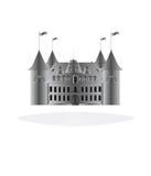 white för bakgrundsslottsaga Royaltyfria Bilder