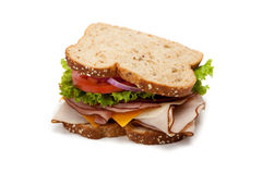 white för bakgrundssmörgåskalkon arkivbilder