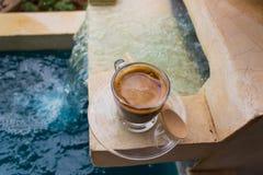 white för bana för bakgrundskaffekopp espresso isolerad Royaltyfri Fotografi