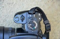 white för bana för bakgrundskameraclipping dslr isolerad Royaltyfria Foton