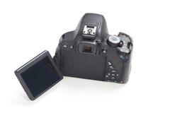 white för bana för bakgrundskameraclipping dslr isolerad Fotografering för Bildbyråer