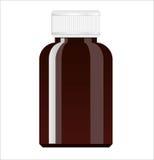 white för bana för medicin för lock för etikett för blank för flaska 100ml clipping för brown barnsäker glass bland annat isolera Arkivbilder