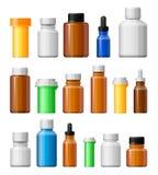 white för bana för medicin för lock för etikett för blank för flaska 100ml clipping för brown barnsäker glass bland annat isolera Arkivbild