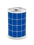 white för batteri för bakgrund 3d isolerad sol- bild Royaltyfri Fotografi