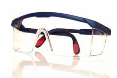 white för blåa goggles för bakgrund skyddande Royaltyfria Bilder