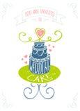 white för bröllop för vektor för inbjudan för bakgrundskortteckningar Royaltyfri Bild