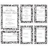 white för bröllop för vektor för inbjudan för bakgrundskortteckningar Royaltyfri Fotografi