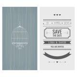 white för bröllop för vektor för inbjudan för bakgrundskortteckningar datumet sparar stock illustrationer