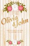 white för bröllop för vektor för inbjudan för bakgrundskortteckningar Vektorinbjudankort med eleganta blommabeståndsdelar med tex stock illustrationer