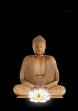 white för buddha blommalotusblomma Royaltyfria Bilder