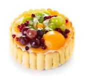 white för cakefruktisolering arkivbild