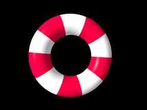 white för cirkel för guardlivstid röd Arkivbild