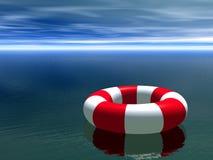 white för cirkel för guardlivstid röd Royaltyfri Foto