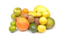 white för citron för kiwi för bakgrundsfruktgrapefrukt orange Royaltyfri Fotografi