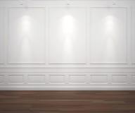 white för classisspotslightvägg stock illustrationer