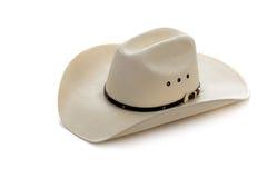 white för cowboyhatt Fotografering för Bildbyråer