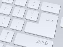 white för datortangentbord isolerade den täta hörlurarbilden för black slapp övre white för mikrofonblock Vektorillustrationbac Arkivbild