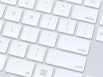 white för datortangentbord isolerade den täta hörlurarbilden för black slapp övre white för mikrofonblock Vektorillustrationbac Fotografering för Bildbyråer