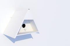 white för fågelhusvägg Arkivbild