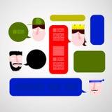 white för femte illustration för framsidor för bakgrundstecknad filmdesign set Royaltyfri Foto