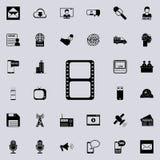 white för film för filmstrip för begrepp 3d symbol isolerad Detaljerad uppsättning av minimalistic symboler Högvärdig grafisk des vektor illustrationer