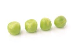 white för fröskida för ärtor för bakgrundskulor grön Fotografering för Bildbyråer