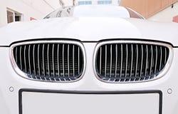 white för galler för bmw-bilframdel Fotografering för Bildbyråer