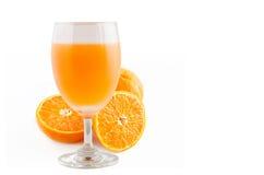 white för glass fruktsaft för bakgrund orange Royaltyfri Fotografi