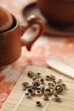white för grön tea arkivfoton