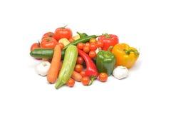 white för grönsak för bakgrundsmatbild Fotografering för Bildbyråer