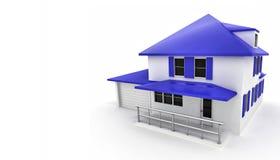 white för grönt hus för bakgrund Arkivbild